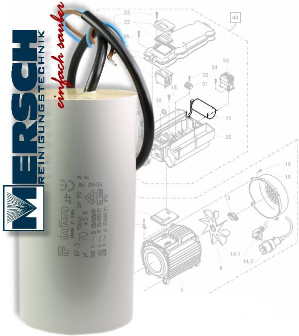kr nzle kondensator 70 f mikrofarad k145 155 2160 profi etc art 43322 ebay. Black Bedroom Furniture Sets. Home Design Ideas